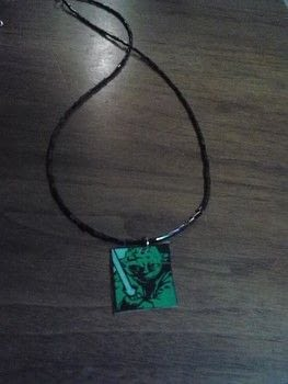 Do or do not.. .  Make a necklace in under 30 minutes using duct tape, cardboard, and hole punch. Inspired by star wars. Creation posted by Ashley P.  in the Jewelry section Difficulty: Simple. Cost: Absolutley free.