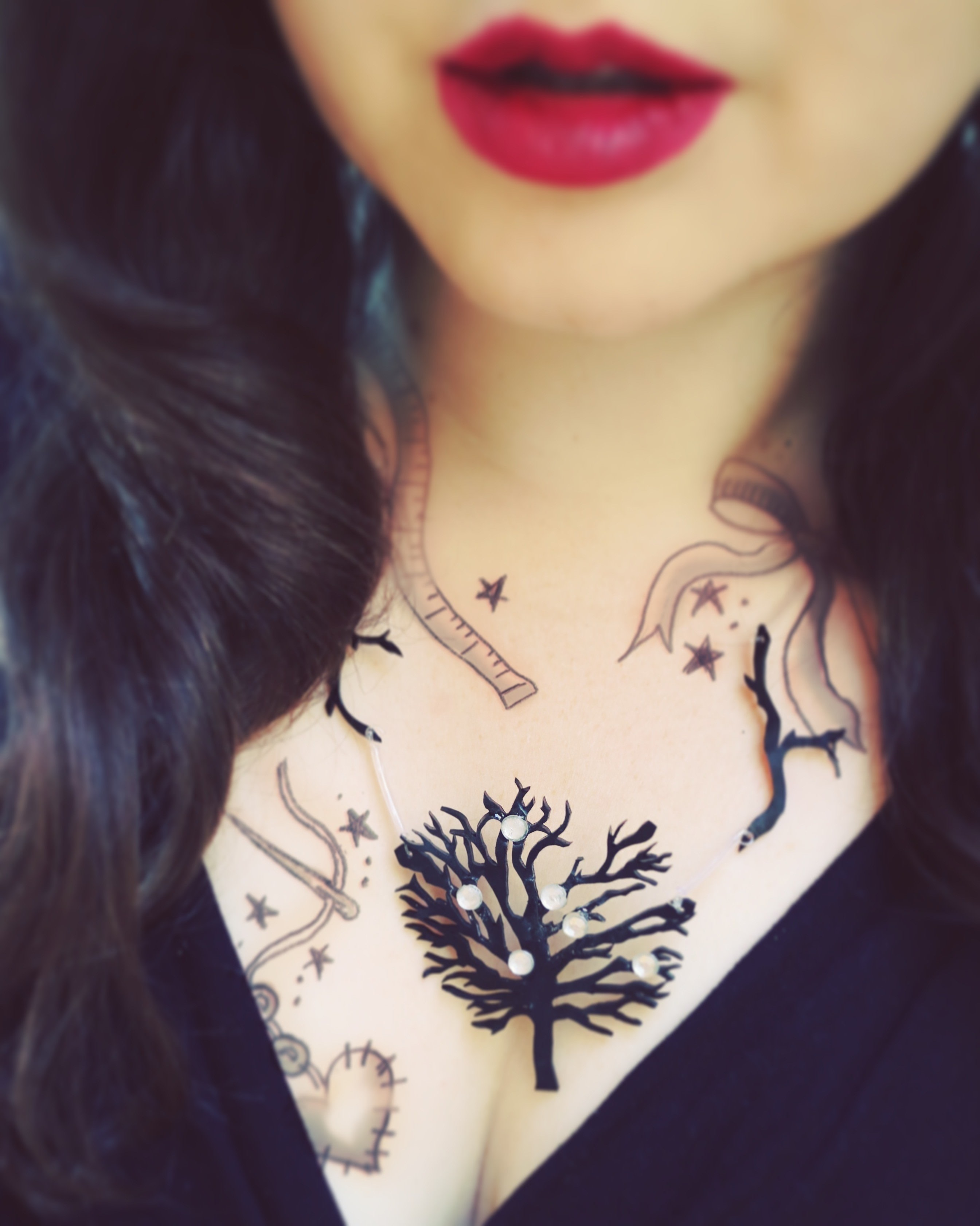 Black chandelier tattoo necklace how to make a shrink plastic black chandelier tattoo necklace how to make a shrink plastic pendant jewelry on cut out keep arubaitofo Choice Image