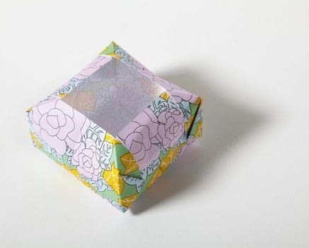 Origami for Mindfulness .  Free tutorial with pictures on how to fold an origami box in under 5 minutes by paper folding with origami paper. How To posted by Ryland Peters & Small.  in the Papercraft section Difficulty: Simple. Cost: Cheap. Steps: 14