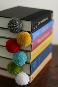 Make simple Pom Pom Bookmarks just for Fun .  Free tutorial with pictures on how to make a book end in under 10 minutes using scissors and yarn. How To posted by Kyle H.  in the Home + DIY section Difficulty: Easy. Cost: No cost. Steps: 5
