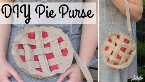Have your pie and wear it too! .  Free tutorial with pictures on how to make a pouch, purse or wallet in under 60 minutes using fabric, chain, and sewing equipment. Inspired by clothes & accessories. How To posted by Cheryl .  in the Sewing section Difficulty: Easy. Cost: No cost. Steps: 1