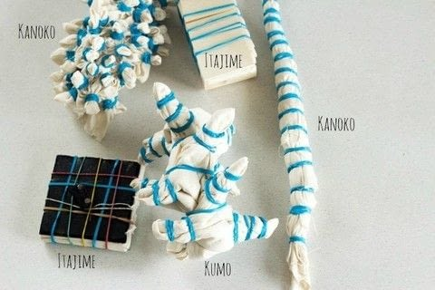 How to make shibori inspired fabric .  Free tutorial with pictures on how to tie-dye  in under 120 minutes by dyeing with fabric dye, fabric, and elastic band. How To posted by Daniela S.  in the Home + DIY section Difficulty: Simple. Cost: Cheap. Steps: 7