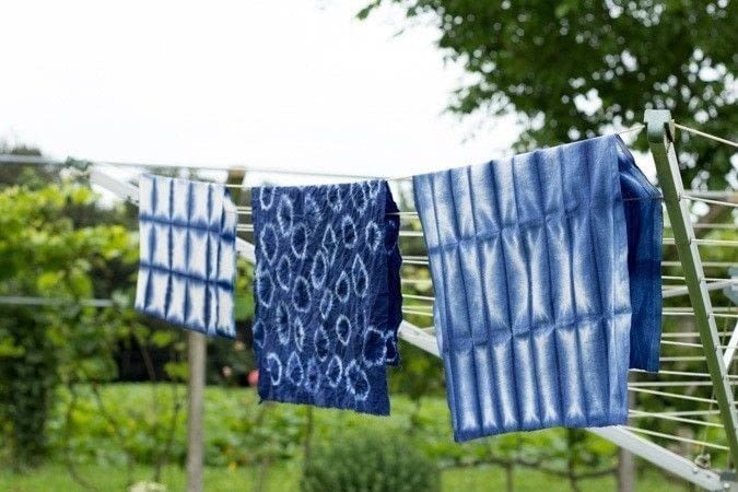shibori inspired dishtowels how to make a tea towel. Black Bedroom Furniture Sets. Home Design Ideas