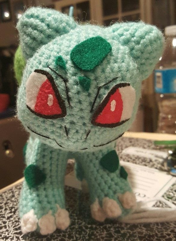 Bulbasaur Amigurumi 183 A Pokemon Plushie 183 Yarncraft On Cut