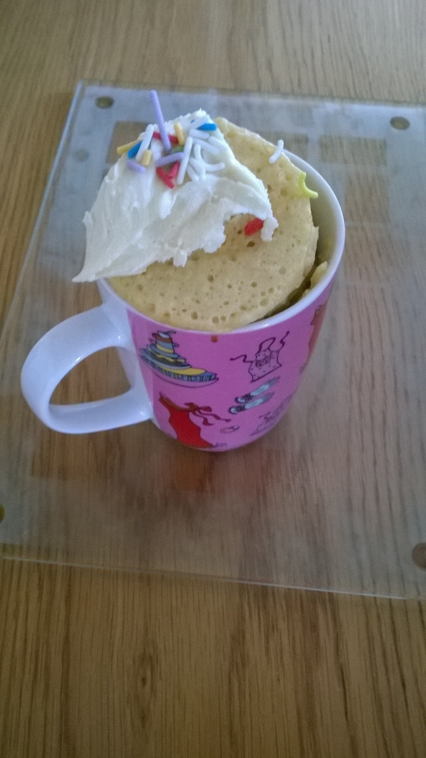 Sprinkles Mug Cake · How To Bake A Sponge Cake · Recipes ...