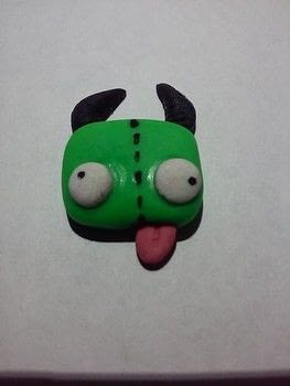 Cold porcelain Gir invader zim charms .  Sculpt a clay robot in under 7 minutes using porcelain and paints. Inspired by invader zim and gir. Creation posted by DeadGirl.  in the Other section Difficulty: Easy. Cost: No cost.