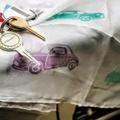 Vintage Car Print Scarf