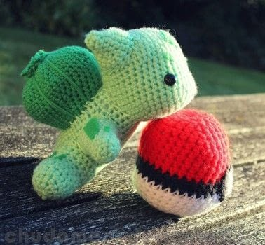 Gotta Catch 'Em All .  Make a Pokemon plushie by embroidering, yarncrafting, crocheting, amigurumi, and hand sewing with yarn, polyfill, and safety eyes. Inspired by pokemon and pokeballs. Creation posted by Chudames.  in the Yarncraft section Difficulty: 3/5. Cost: 3/5.