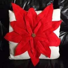 Poinsettia Pillow