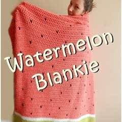 Watermelon Crochet Blanket