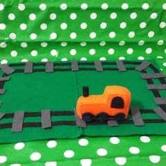 Felt Train & Track Playset