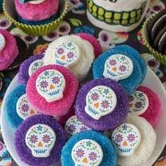 Sugar Skull Chocolate Covered Cookies