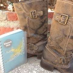 Stenciled Boots