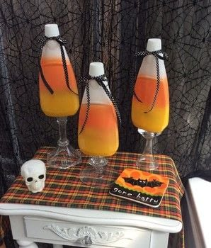 Recycled Mouthwash bottles are the perfect Candy corn shape .  Make a Halloween decoration in under 120 minutes using paints and bottles. Creation posted by PlaidCrafter.  in the Decorating section Difficulty: 3/5. Cost: Absolutley free.