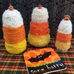 Yarn Cone Candy Corns And Acorn Jack O Lanterns