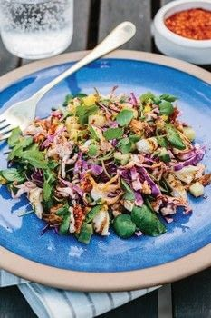 The Modern Salad .  Free tutorial with pictures on how to make a salad in under 35 minutes by cooking with rice vinegar, toasted sesame oil, and kimchi. Inspired by spanish, korean, and fusion food. Recipe posted by Ulysses Press.  in the Recipes section Difficulty: Simple. Cost: Cheap. Steps: 2