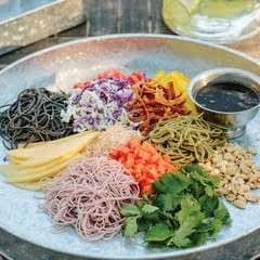 The Burmese Rainbow Salad With Tamarind Vinaigrette