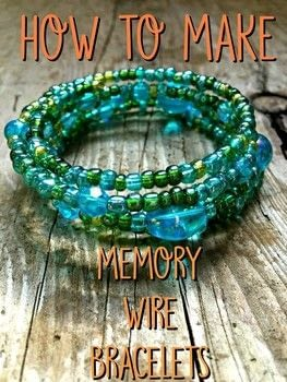 Learn to make a simple memory wire bracelet .  Free tutorial with pictures on how to make a memory wire bracelet in under 60 minutes by beading with beads, wire cutters, and round nose pliers. How To posted by Adrienne the Crafty Little Gnome.  in the Jewelry section Difficulty: Easy. Cost: Cheap. Steps: 5
