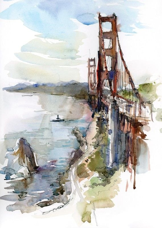 Quick Sketch Bridges 183 Extract From Five Minute Sketching