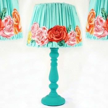 3 Different Lamp Makeovers! .  Free tutorial with pictures on how to make a lamp / lampshade in under 120 minutes by creating, spraypainting, decorating, embellishing, and not sewing with lamp, americana decor chalky finish paint, and americana decor satin enamels. How To posted by Mark Montano.  in the Decorating section Difficulty: Simple. Cost: Cheap. Steps: 5