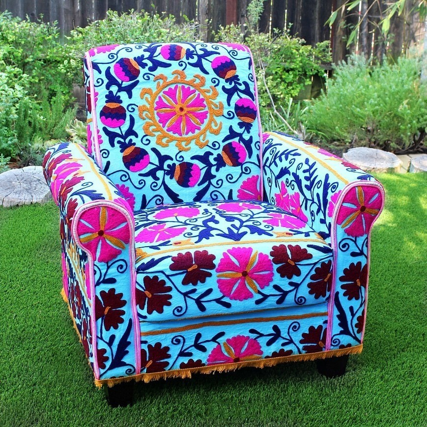 No Sew Boho Upholstered Chair · How To Make A Chair · Home ...