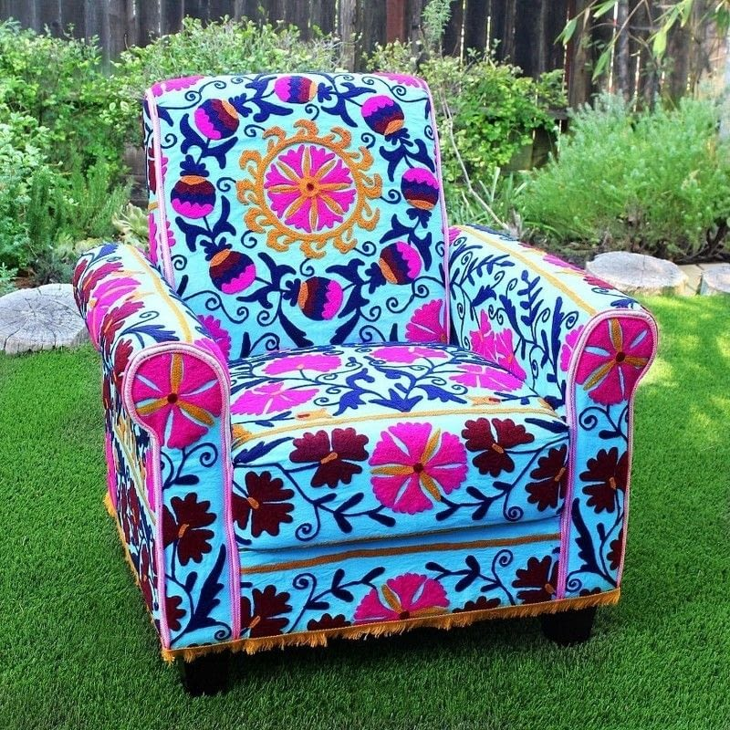 No Sew Boho Upholstered Chair How To Make A Chair Home