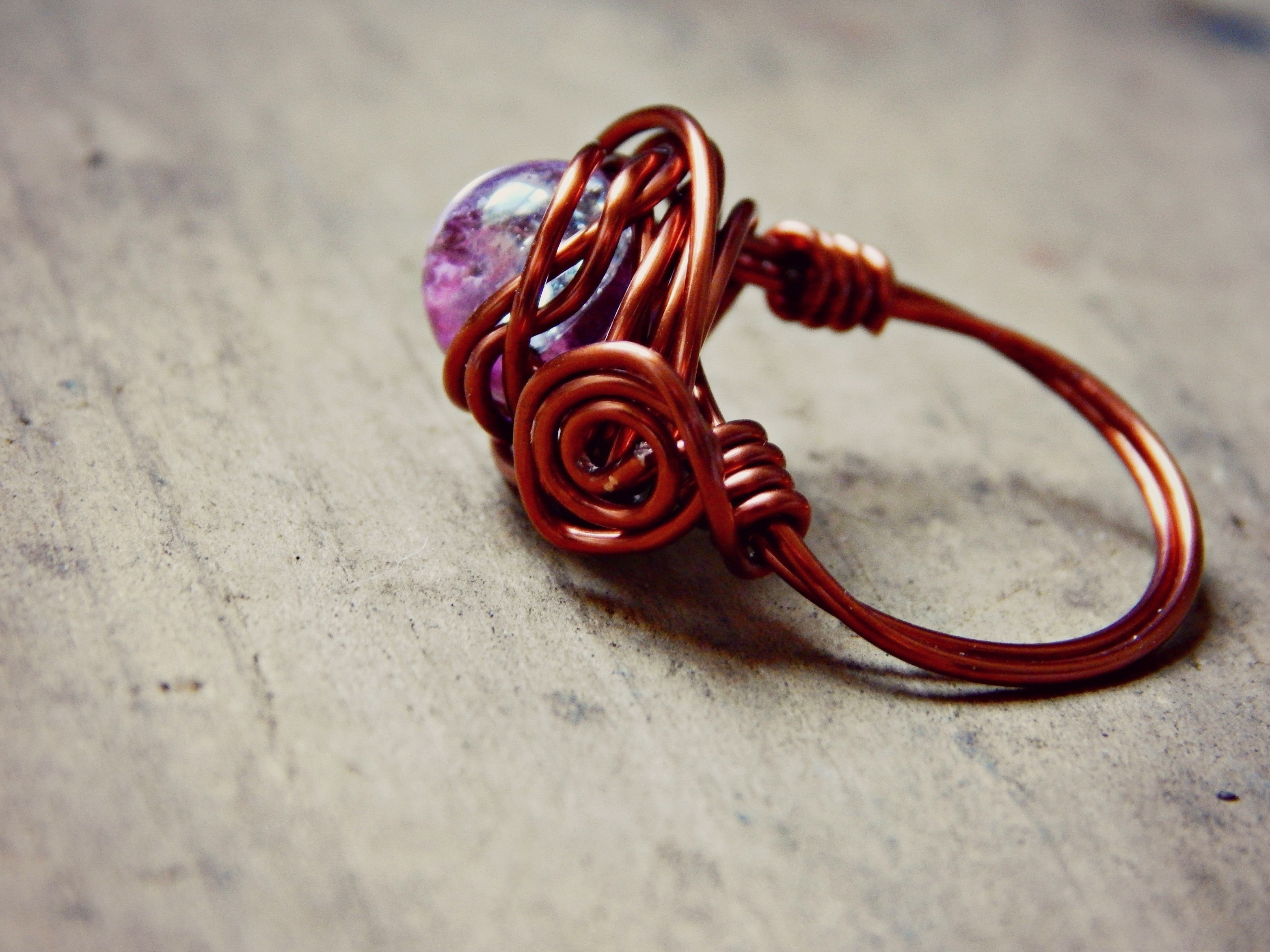 tag day creatively wire wrapped funky ring emerging rings tutorials b hardware jewelry