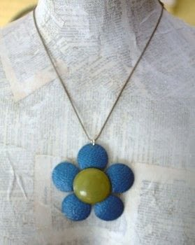 Take an old brooch and turn it into a modern necklace. .  Free tutorial with pictures on how to make a recycled necklace in under 5 minutes by jewelrymaking with brooch, needle nose pliers, and jump ring. How To posted by CraftyHope.  in the Jewelry section Difficulty: Easy. Cost: Cheap. Steps: 4