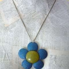 Upcycled Enamel Flower Necklace