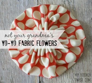 Not your grandma's yo-yo flowers! .  Free tutorial with pictures on how to make a misc in under 10 minutes by sewing with scissors, paper, and needle & thread. Inspired by crafts, flowers, and bohemian. How To posted by Wendy R.  in the Sewing section Difficulty: Easy. Cost: Absolutley free. Steps: 6