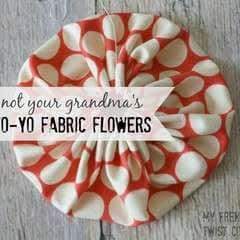 Yo Yo Fabric Flower Tutorial