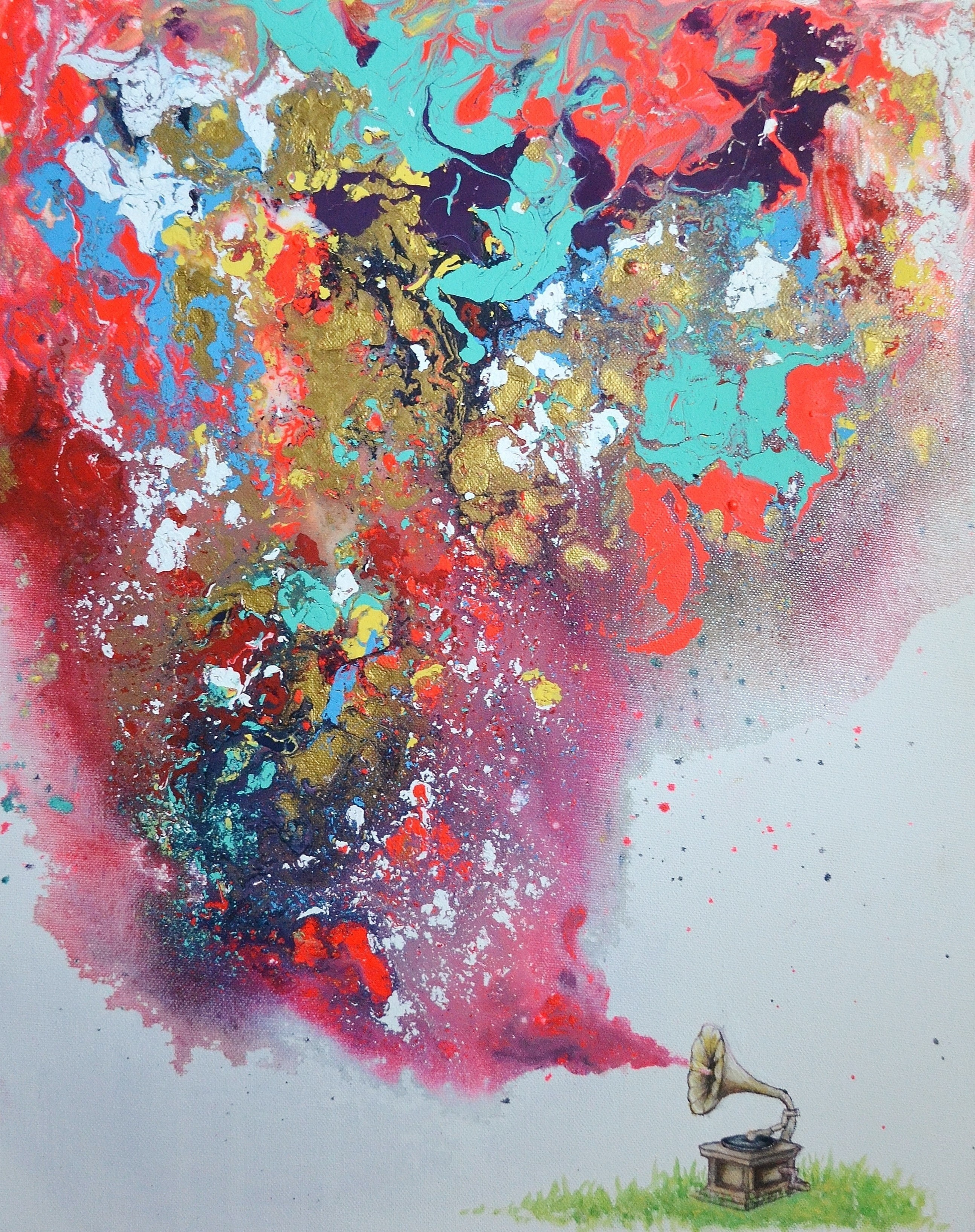 Pouring Medium Painting Abstract Art