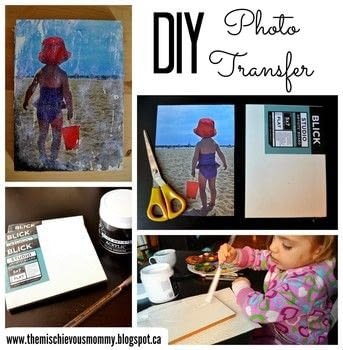 Transfer your favourite photos to create a mixed media painting! .  Free tutorial with pictures on how to make a transfers in 8 steps using canvas, paintbrushes, and gel medium. How To posted by Ruth O.  in the Art section Difficulty: 3/5. Cost: Cheap.