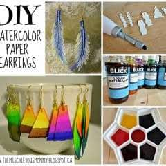 Diy Watercolor Paper Earrings