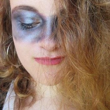Watch over the galaxy with this easy look! .  Free tutorial with pictures on how to create an eye makeup look in under 30 minutes using foundation makeup, eyeshadows, and powder. Inspired by halloween and galaxy print. How To posted by Cheryl .  in the Beauty section Difficulty: Easy. Cost: Absolutley free. Steps: 1