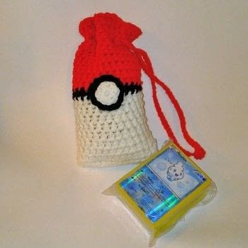 Crochet Pokémon Pouches .  Make a toy in under 60 minutes by crocheting with worsted yarn and crochet hook. Inspired by pokemon and pokeballs. Creation posted by Carol S.  in the Yarncraft section Difficulty: 3/5. Cost: Cheap.