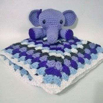 Elephant Baby set .  Make a crochet using acrylic yarn, polyfill, and crochet hook. Inspired by babies, baby showers, and elephants. Creation posted by Carol S.  in the Yarncraft section Difficulty: Simple. Cost: 3/5.