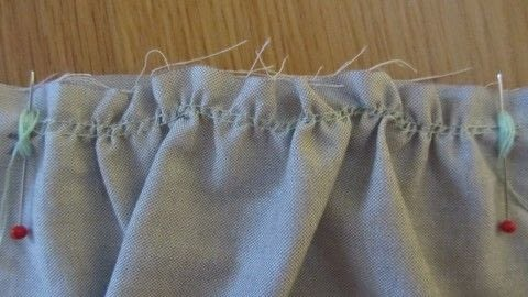 A tip to help with even gathers .  Free tutorial with pictures on how to sew a gather in under 10 minutes by sewing with thread, pins, and your current project. How To posted by Claire E.  in the Sewing section Difficulty: Easy. Cost: No cost. Steps: 4