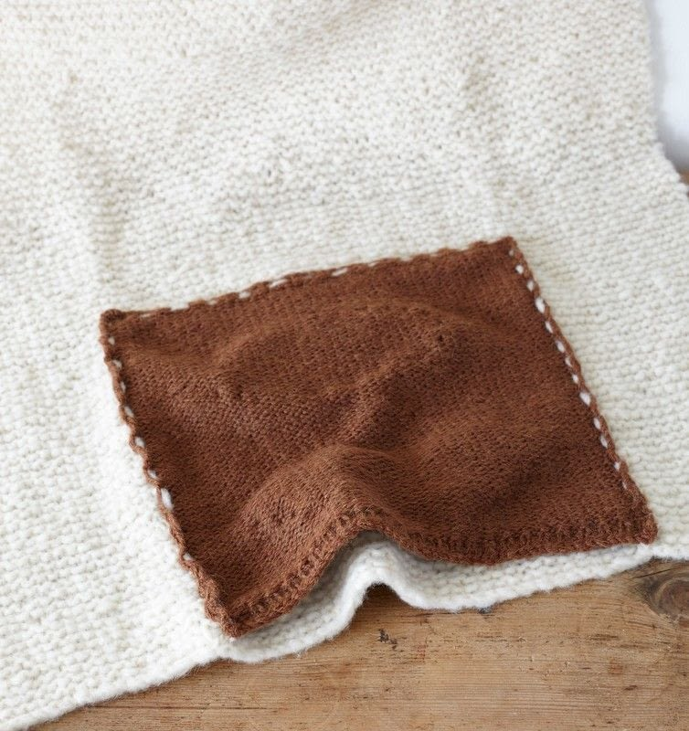 Knitting Pattern Travel Blanket : Teddy Travel Blanket ? Extract from 35 Knitted Baby ...