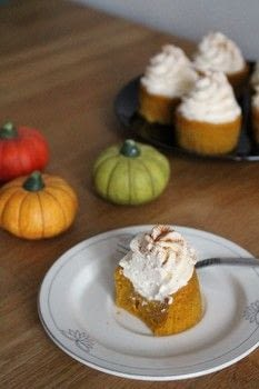 Just like pumpkin pie without the tasteless crust! .  Free tutorial with pictures on how to bake a pumpkin cupcake in under 60 minutes by cooking and baking with pumpkin puree, sweetened condensed milk, and eggs. Recipe posted by Mona S.  in the Recipes section Difficulty: Simple. Cost: Cheap. Steps: 4