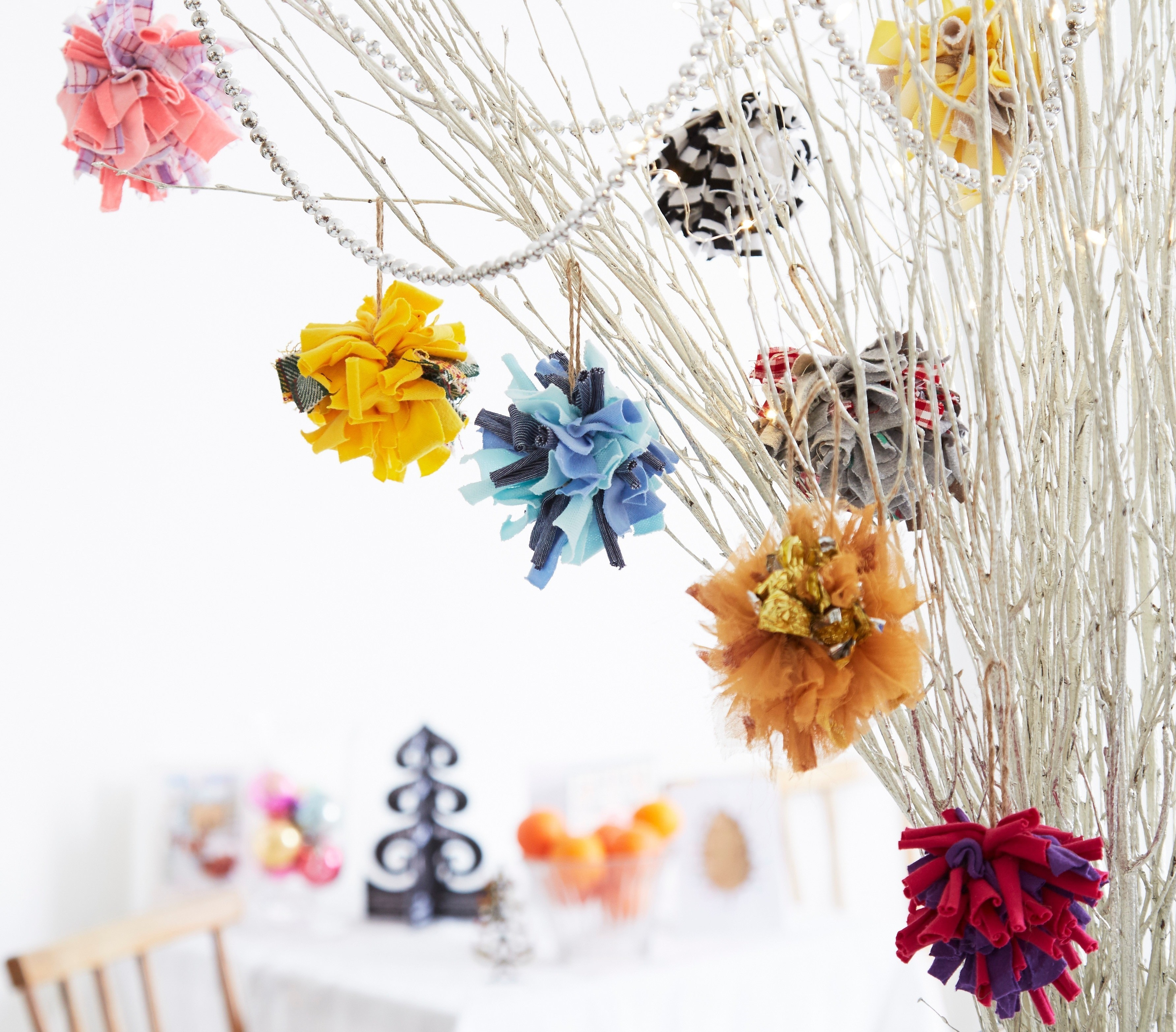 Keep Cat Away From Christmas Tree: Christmas Tree Baubles · Extract From Rag Rugs, Pillows