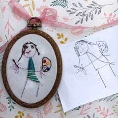 How To Turn Your Child's Artwork Into An Embroidered Keepsake