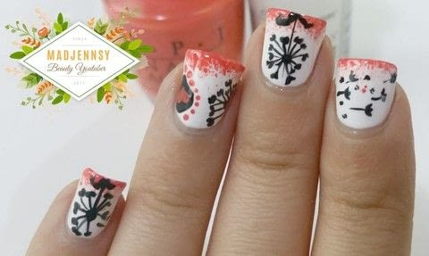 Paint beautiful Dandelions with a Halloween touch! .  Free tutorial with pictures on how to paint seasonal nail art in under 40 minutes using nail polish and acrylic paint. Inspired by halloween. How To posted by Jennifer R.  in the Beauty section Difficulty: 3/5. Cost: Cheap. Steps: 1