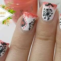 Dark Dandelion Nail Art