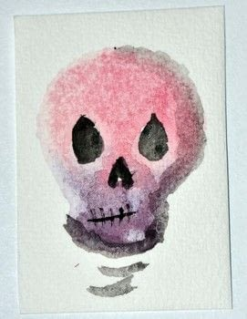Make watercolor stamped skulls to give away to your friends. .  Free tutorial with pictures on how to paint a piece of watercolor art in under 20 minutes by drawing and stamping with scissors, foamy, and uhu glue. Inspired by halloween, sugar skulls, and day of the dead. How To posted by Gaby R.  in the Art section Difficulty: Simple. Cost: Absolutley free. Steps: 3