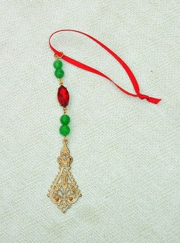 Handmade Holiday Gemstone Beaded Icicle Ornaments .  Free tutorial with pictures on how to make an icicle in under 20 minutes by beading, decorating, embellishing, and jewelrymaking with wire, beads, and ribbon. Inspired by christmas. How To posted by Harmonees.creations.  in the Jewelry section Difficulty: Simple. Cost: 3/5. Steps: 4