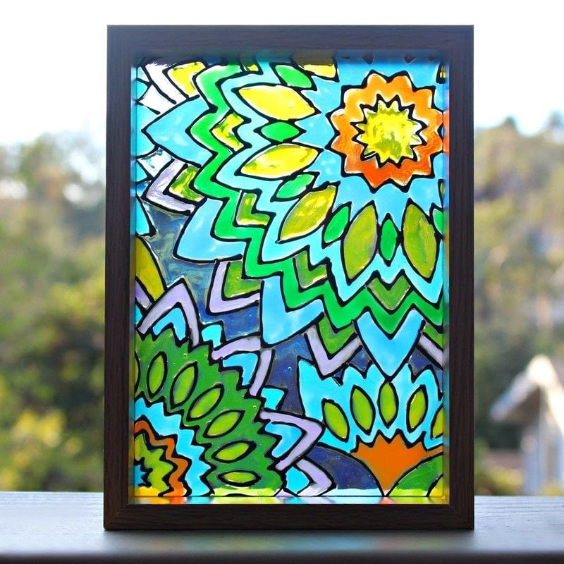 Faux Stained Glass Mandalas 183 How To Make A Window