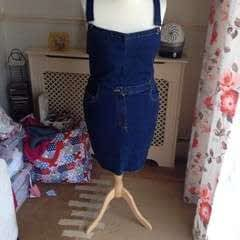 Making A Pinafore Dress Out Of An Old Pair Of Jeans