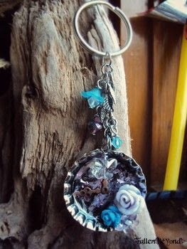 Make any image or 3D collage into a keychain or pendant .  Make a charm / keyring in under 60 minutes by collage and resinworking with images, resin, and punch. Inspired by fairytale and flowers. Creation posted by FallenBeyond.  in the Other section Difficulty: 3/5. Cost: 3/5.
