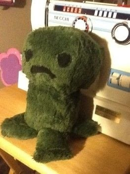 A cuddly little creeper friend. .  Sew a computer game plushie by sewing, hand sewing, and machine sewing with fleece, faux fur, and felt or fleece. Creation posted by FallenBeyond.  in the Sewing section Difficulty: 4/5. Cost: No cost.